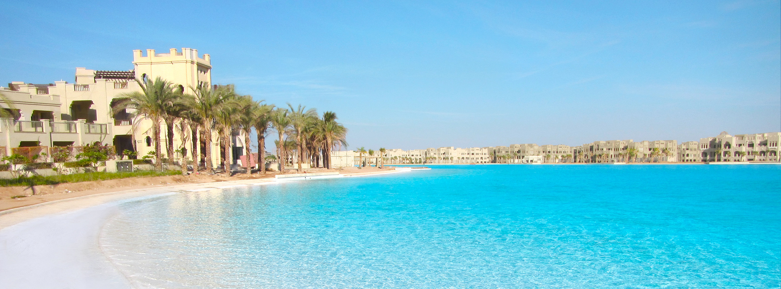 Guinness world record for crystal lagoons egypt project - Egyptian club dubai swimming pool ...