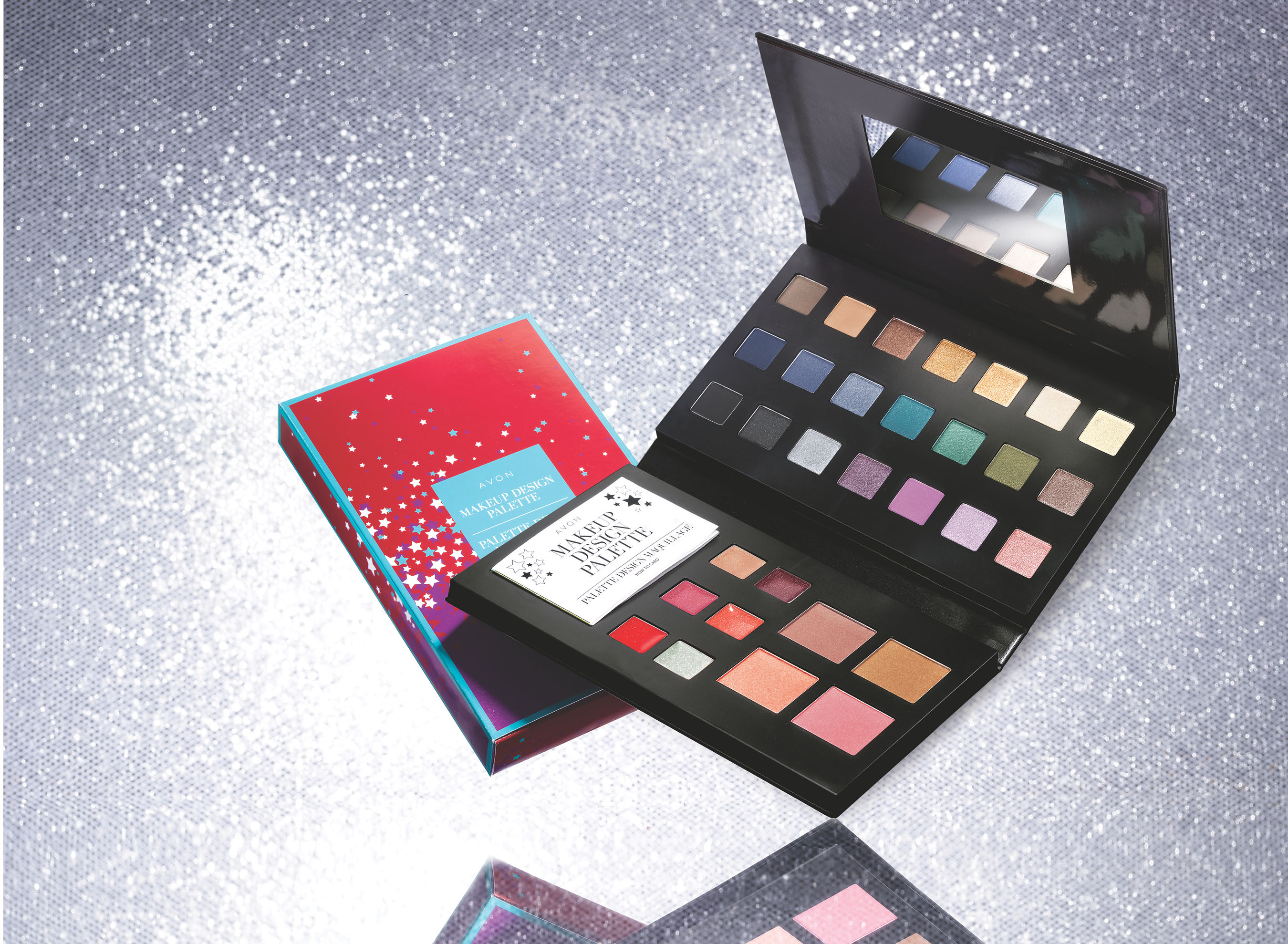 This tri-fold palette has 31 on-trend shades for eyes, lips, and face, and is the ultimate gift for every beauty lover.