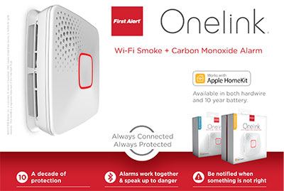 Onelink by First Alert Wi-Fi Smoke + CO Alarm Photo Page