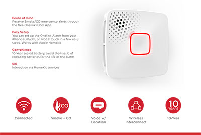 Onelink by First Alert Wi-Fi Smoke + CO Alarm Product Information Sheet