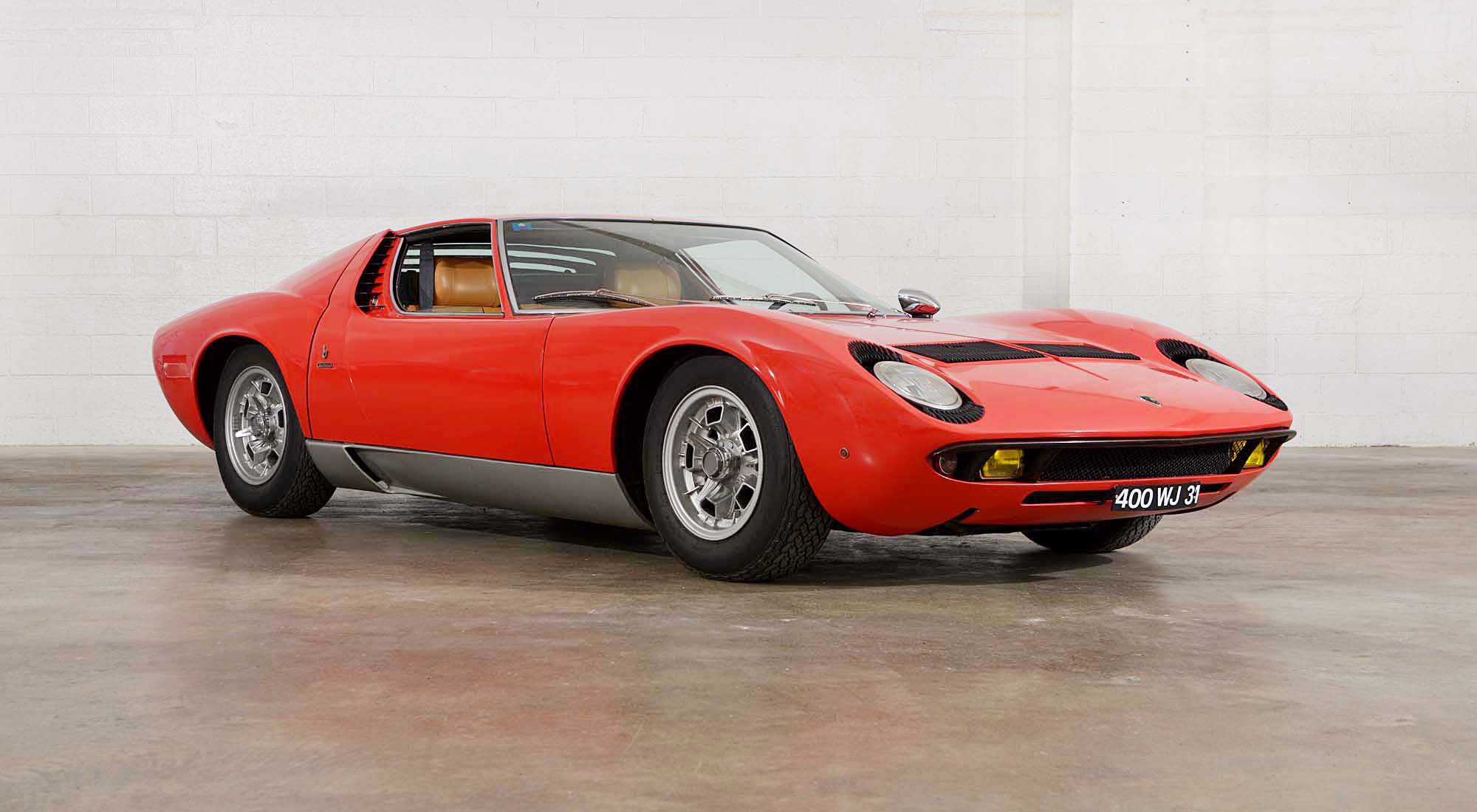 1969 Lamborghini Miura P400S VIN 4377 is beloved for its astonishing originality, by the foremost expert on the marque, Valentino Balboni