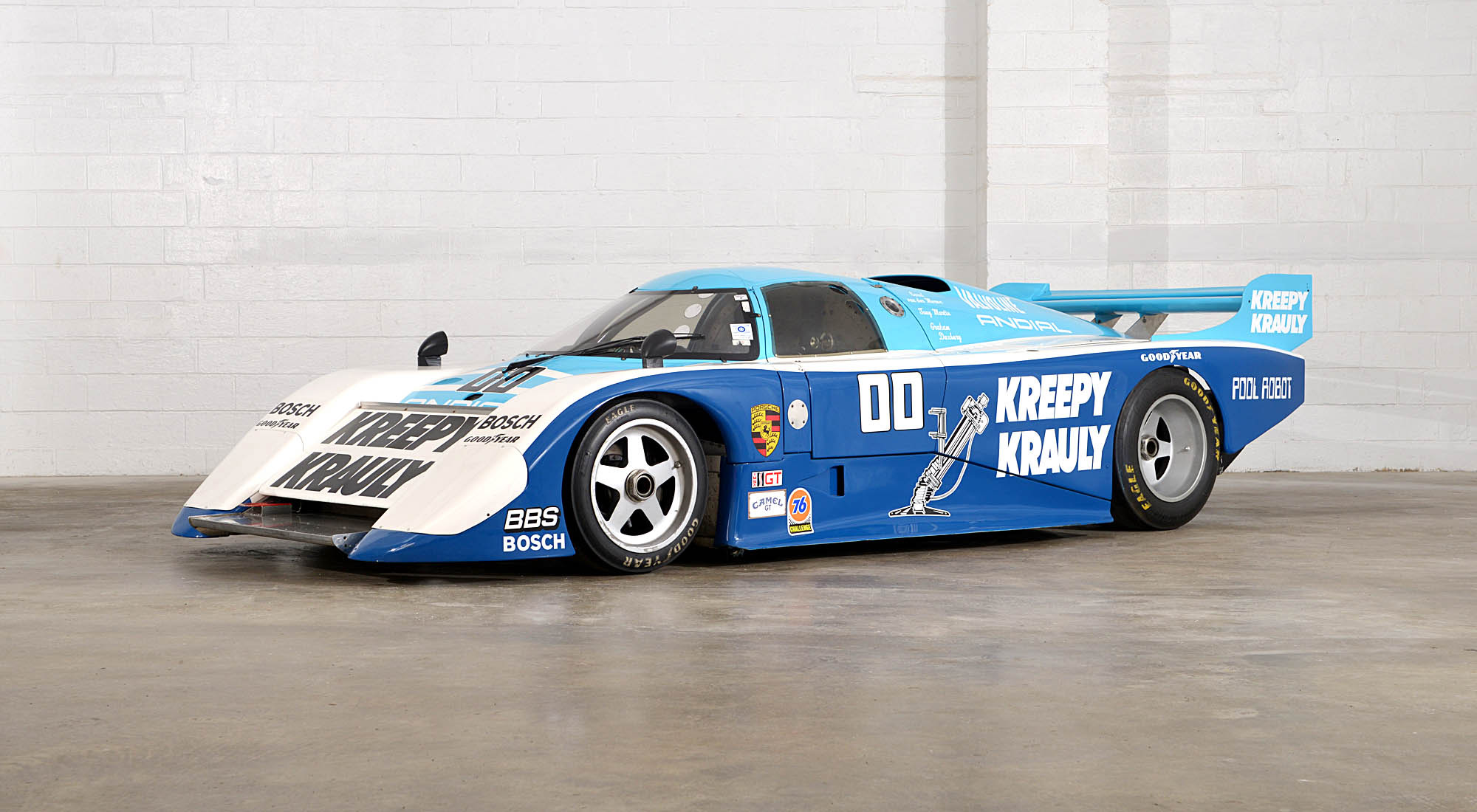 The 'Kreepy Krauly' March Porsche 83G-04 which won the 1984 24 Hours of Daytona and was the first design of Adrian Newey