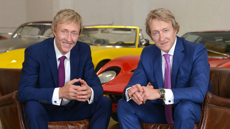 The Keno Brothers, Leslie (L) and Leigh (R) Co-Founders and CEOs of Keno Brothers Fine Automobile Auctions