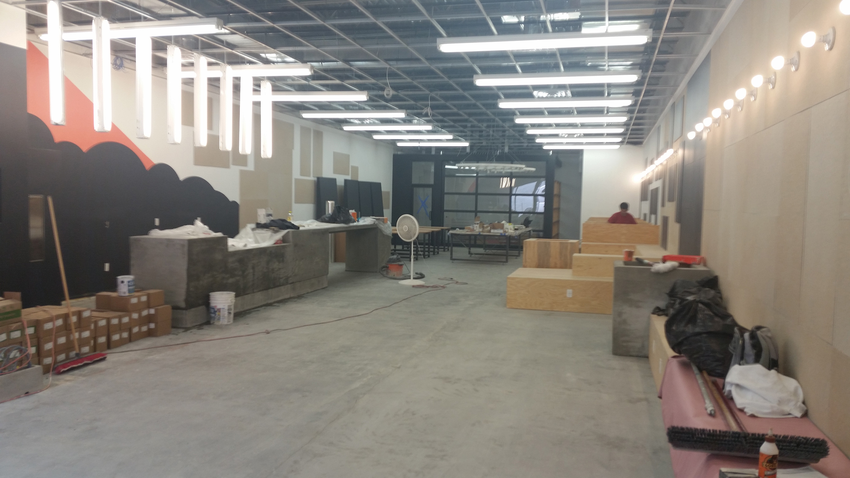 3 Black Cats Cafe undergoes construction prior to grand opening.