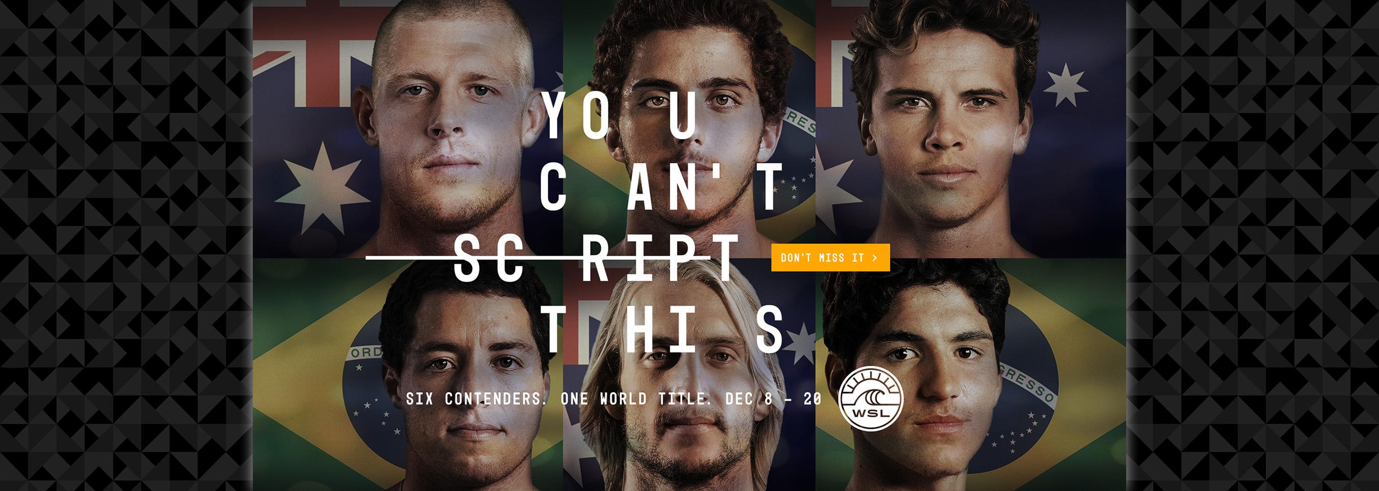 "World Surf League Unveils ""You Can't Script This"""