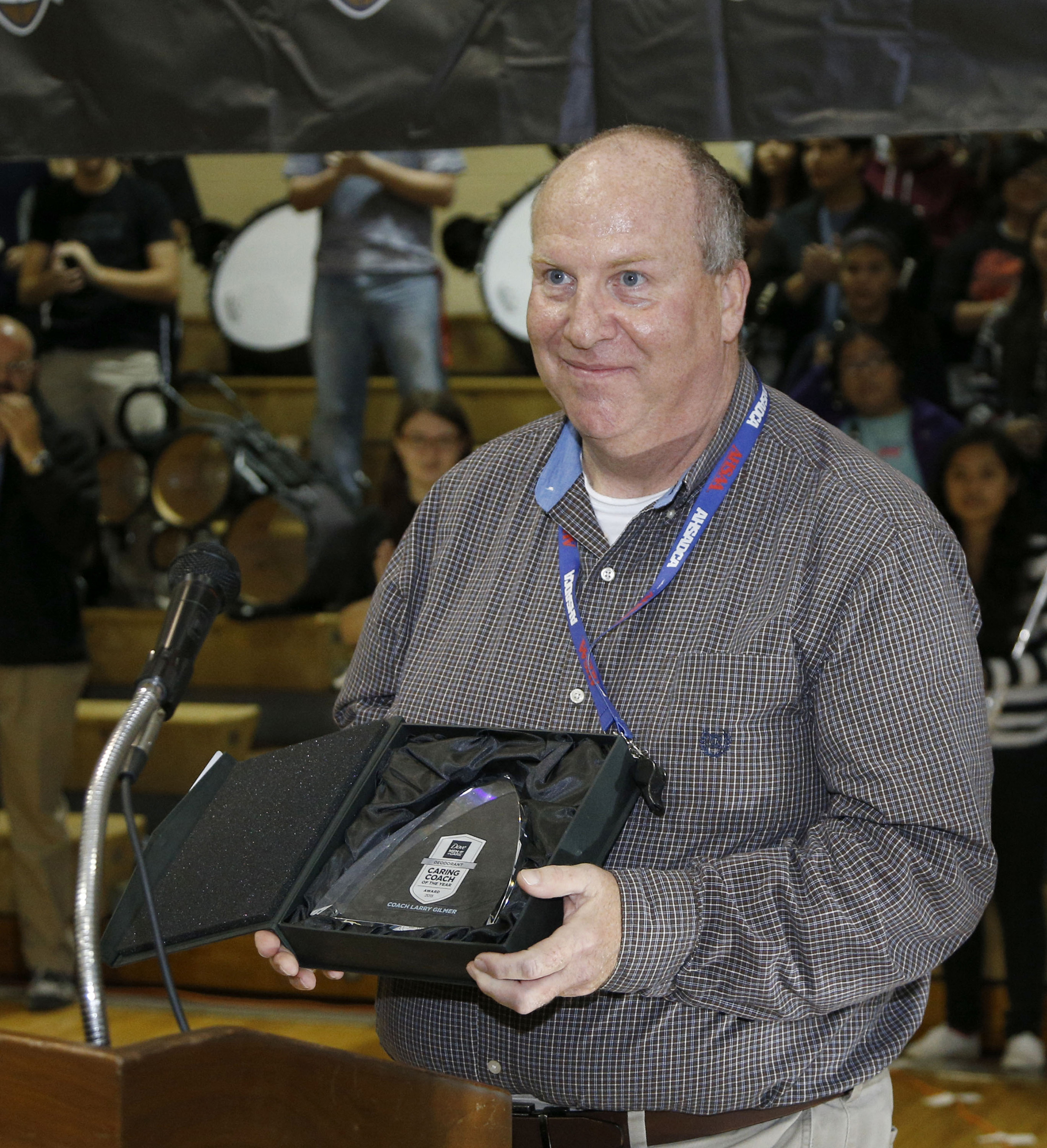 Coach Larry Gilmer, head football coach of Russellville Middle School in Russellville, AL