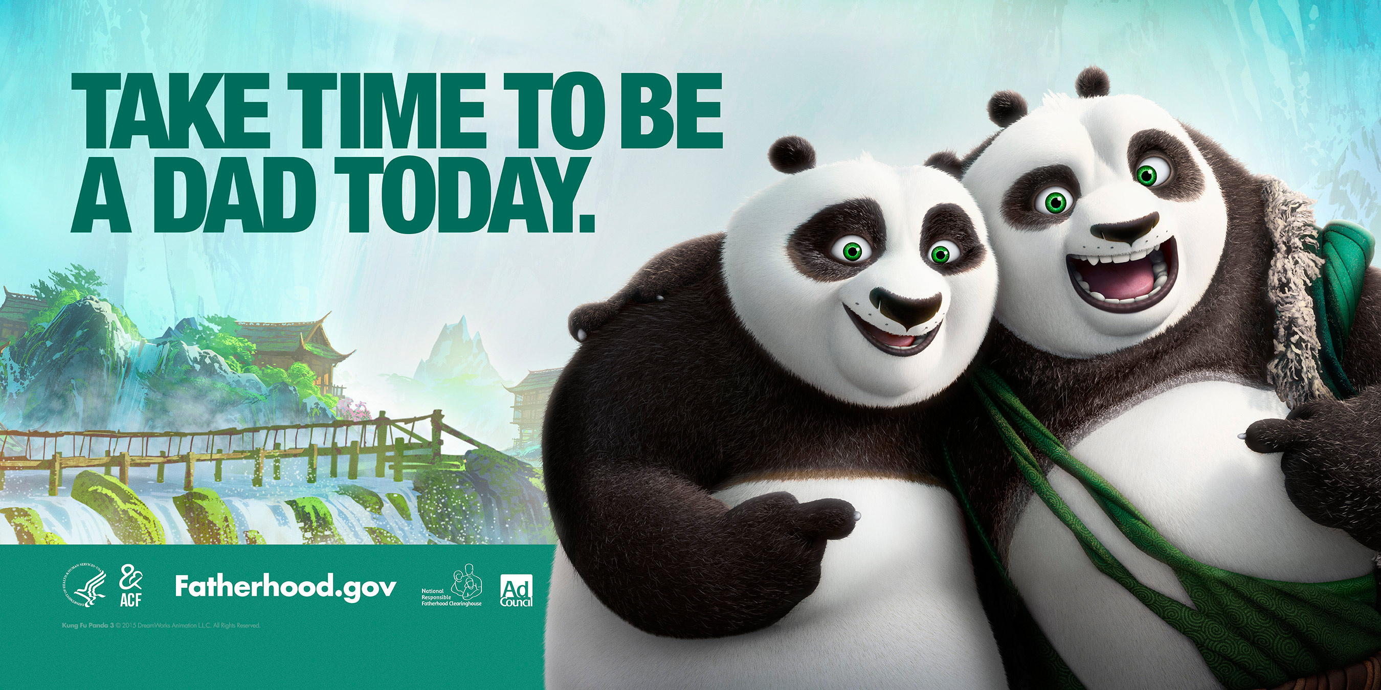 Kung Fu Panda 3 Billboard PSA