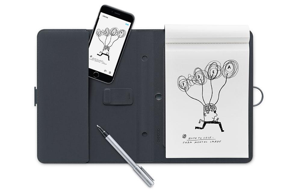Smart folio with gadget pocket