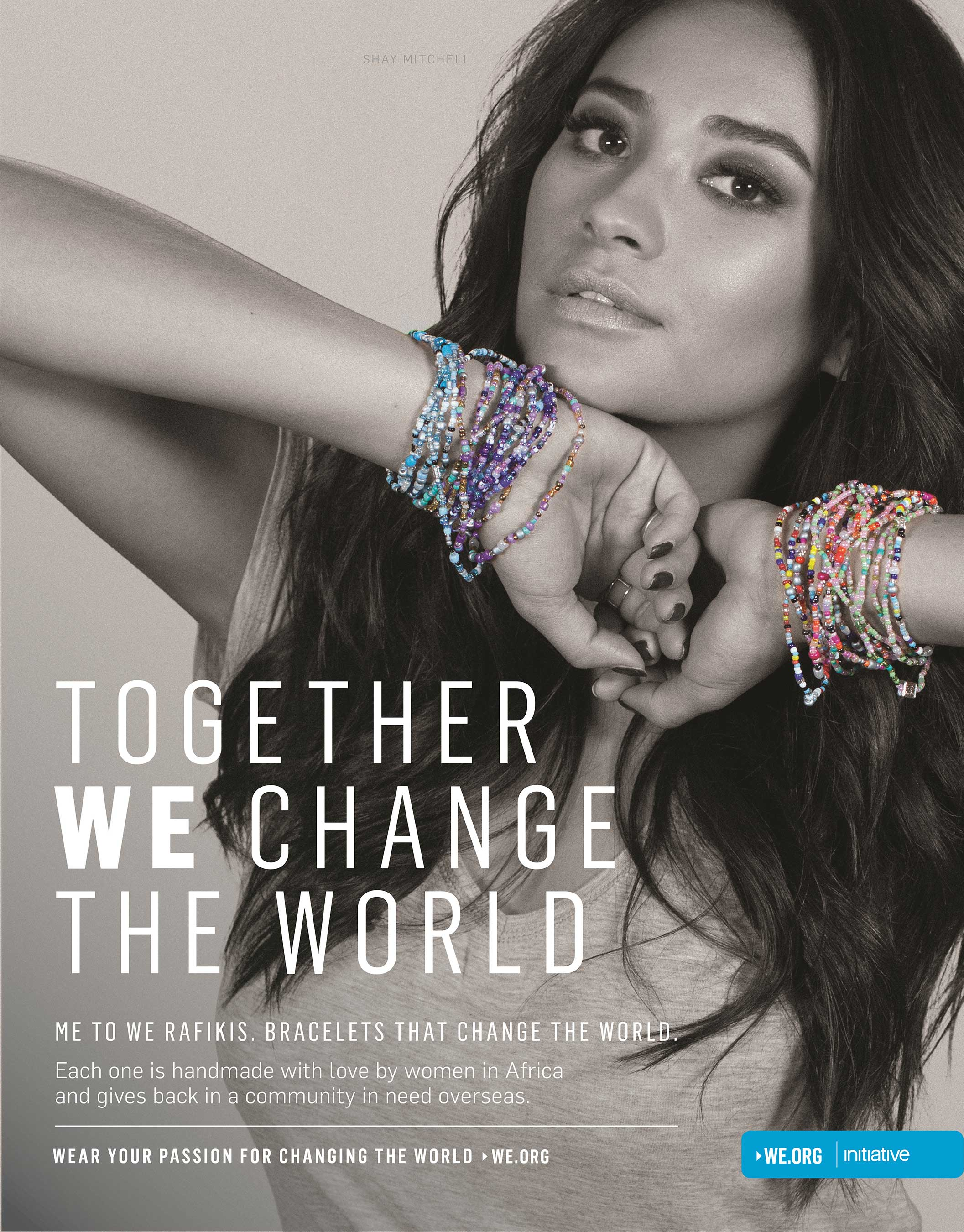 Shay Mitchell and Nina Dobrev wear their passion for changing the world