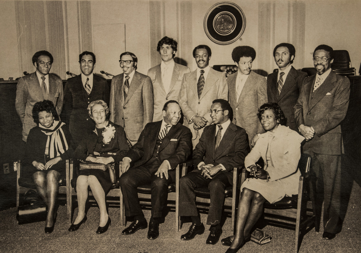 First elected members of the D.C. City Council, 1975 (Photo courtesy D.C. Public Library, Washingtoniana ...