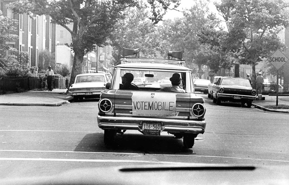 Washington Committee Black Power's Vote mobile, 1967 (Photo courtesy of D.C. Public Library, Washingtoniana ...
