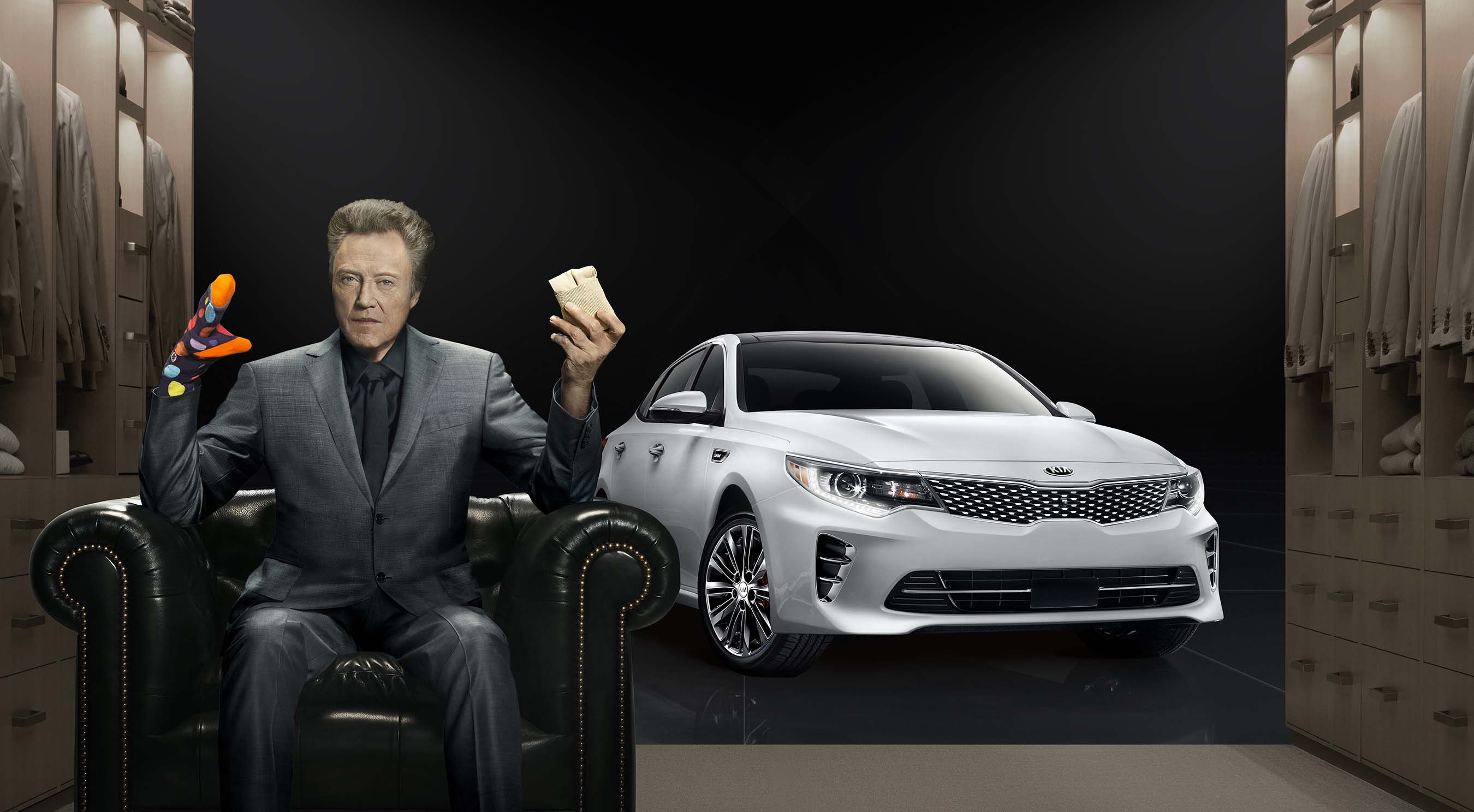 "Christopher Walken adds ""pizzazz"" to Kia Motors' Super Bowl commercial for the all-new 2016 Optima midsize sedan"