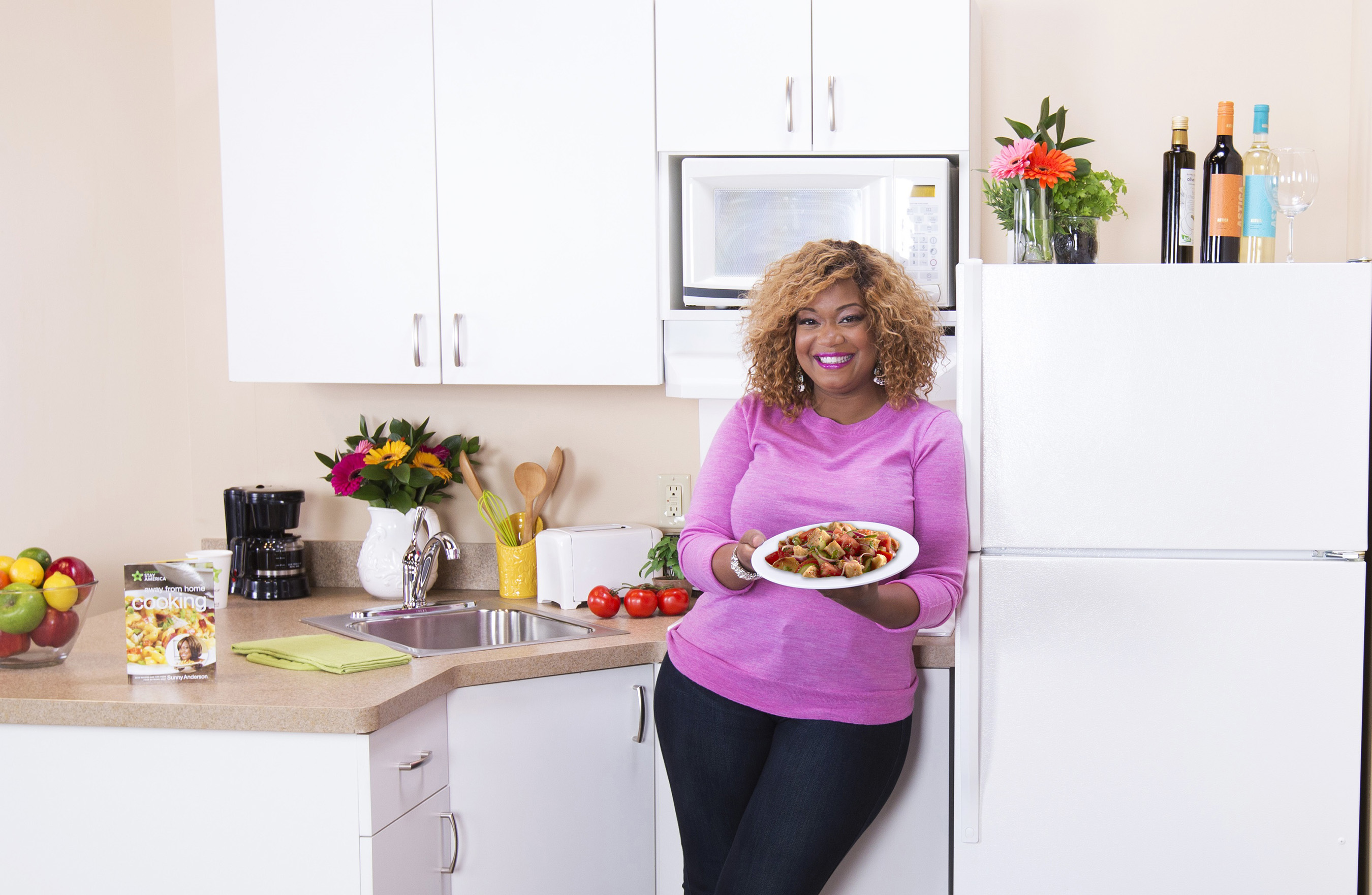 Sunny Anderson extended stay america partners with food network's™ sunny anderson