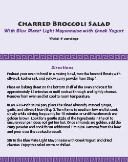 Charred Broccoli Salad Recipe Download