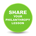 share your philanthropy lesson button