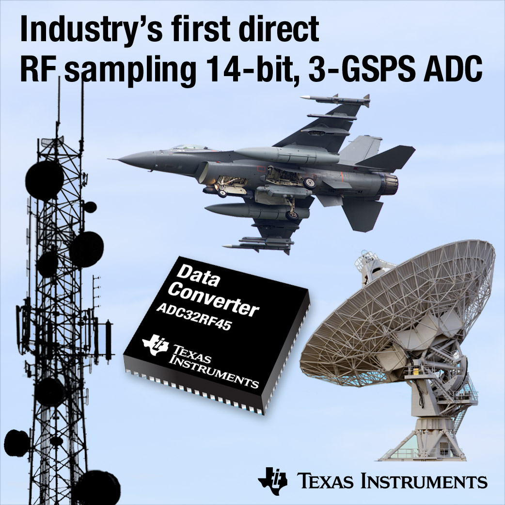 Industry's first direct RF sampling 14-bit, 3-GSPS ADC