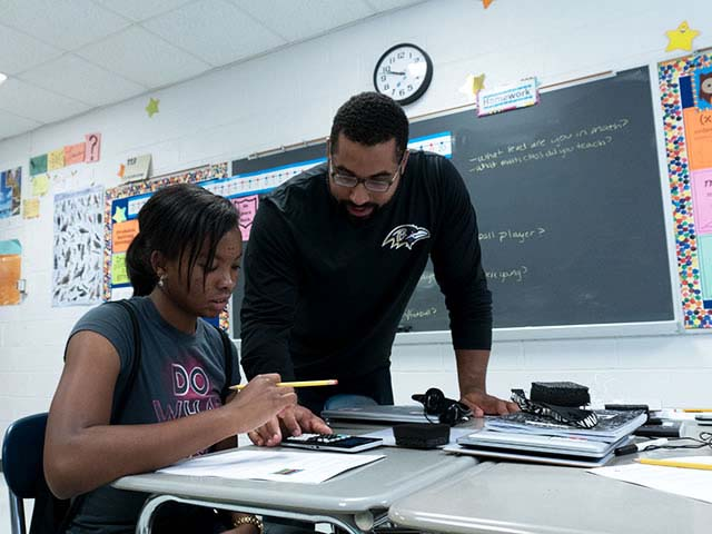 On the field, in school or at home, John Urschel wants to show students how math taught in the classroom is an integral part of everyday activities.