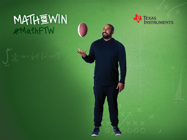 John Urschel has teamed up with Texas Instruments to show students how they can be good at sports and academics.