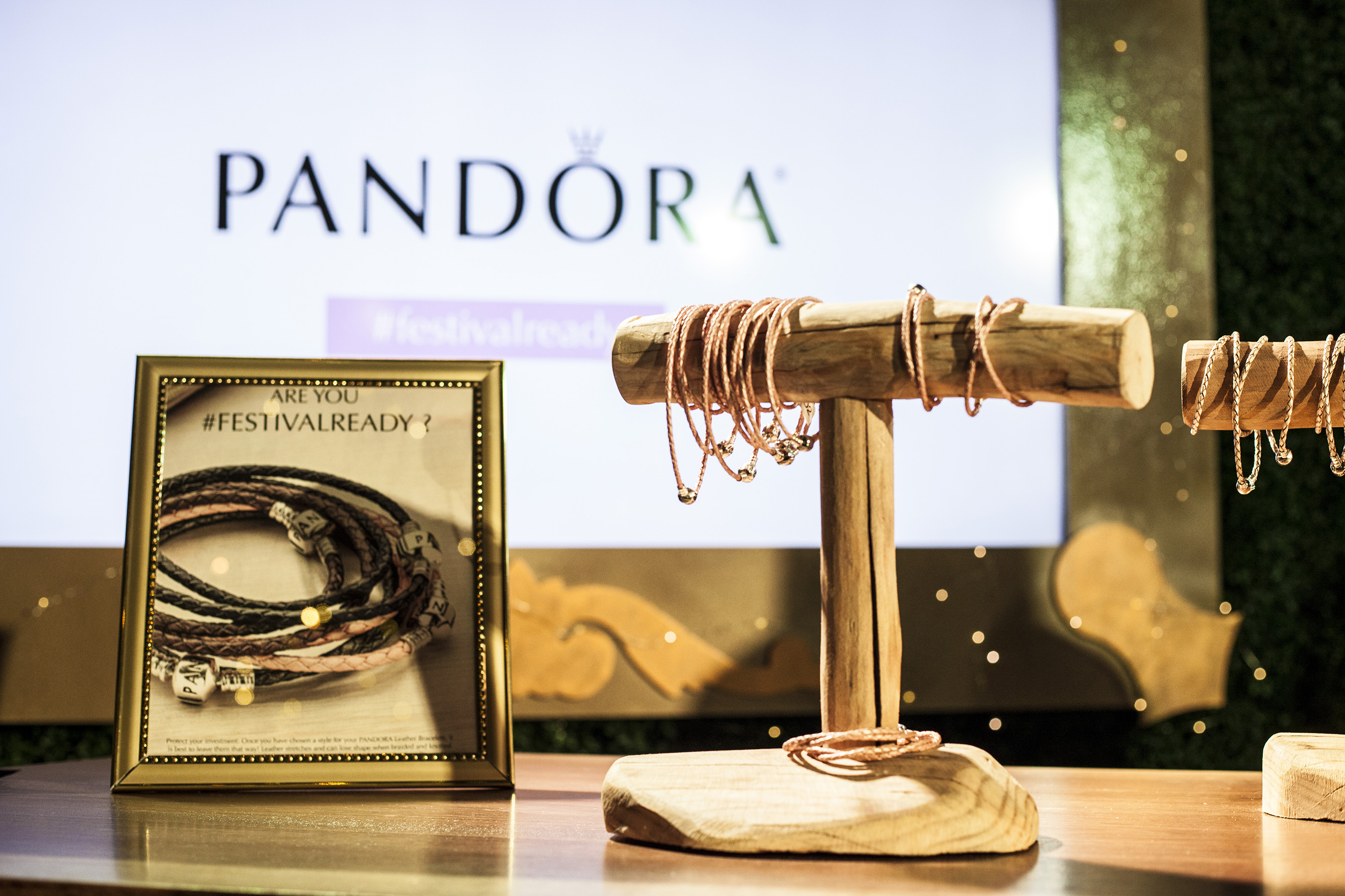 Festival goers were invited to get #FESTIVALready with PANDORA Jewelry by purchasing a leather braided bracelet