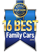 KBB.com's 16 Best Family Cars logo