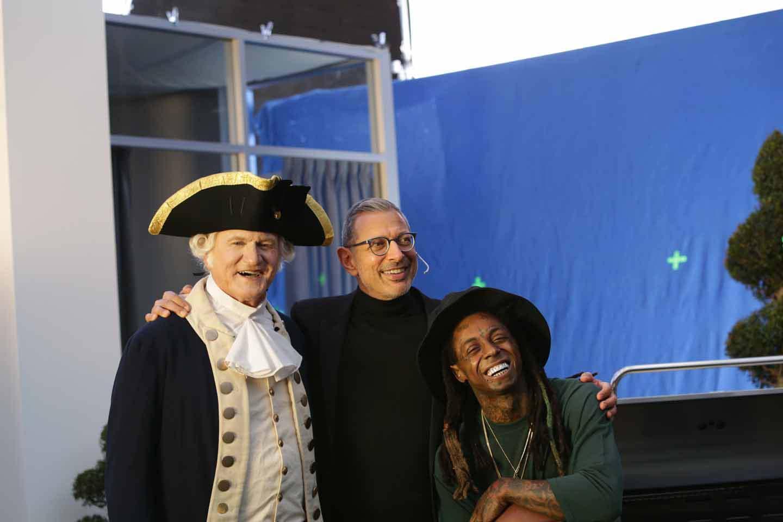 Jeff Goldblum, George Washington, and Lil Wayne in Apartments.com's Super Bowl ad