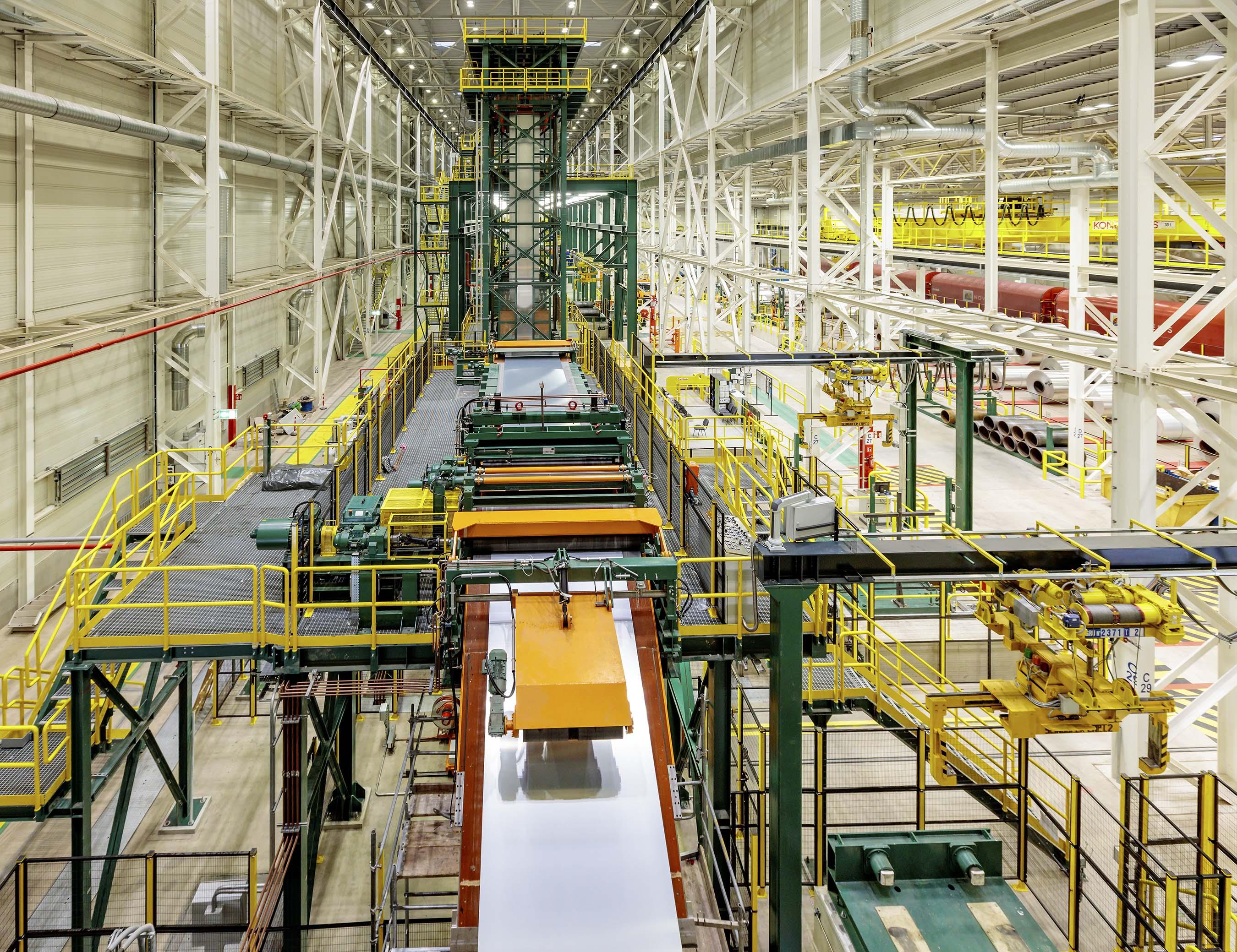 Novelis Nachtersedt finishing line for automotive aluminum sheet