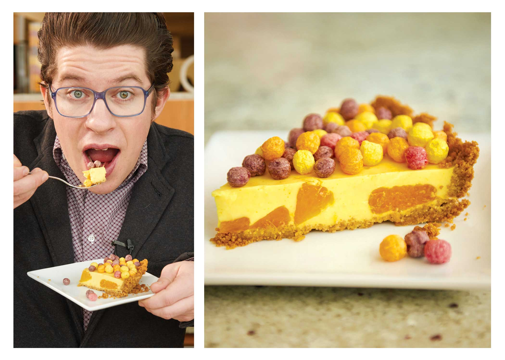 Chef Warner's Trix Sunrise Chill Pie can be enjoyed as breakfast, brunch or dessert!