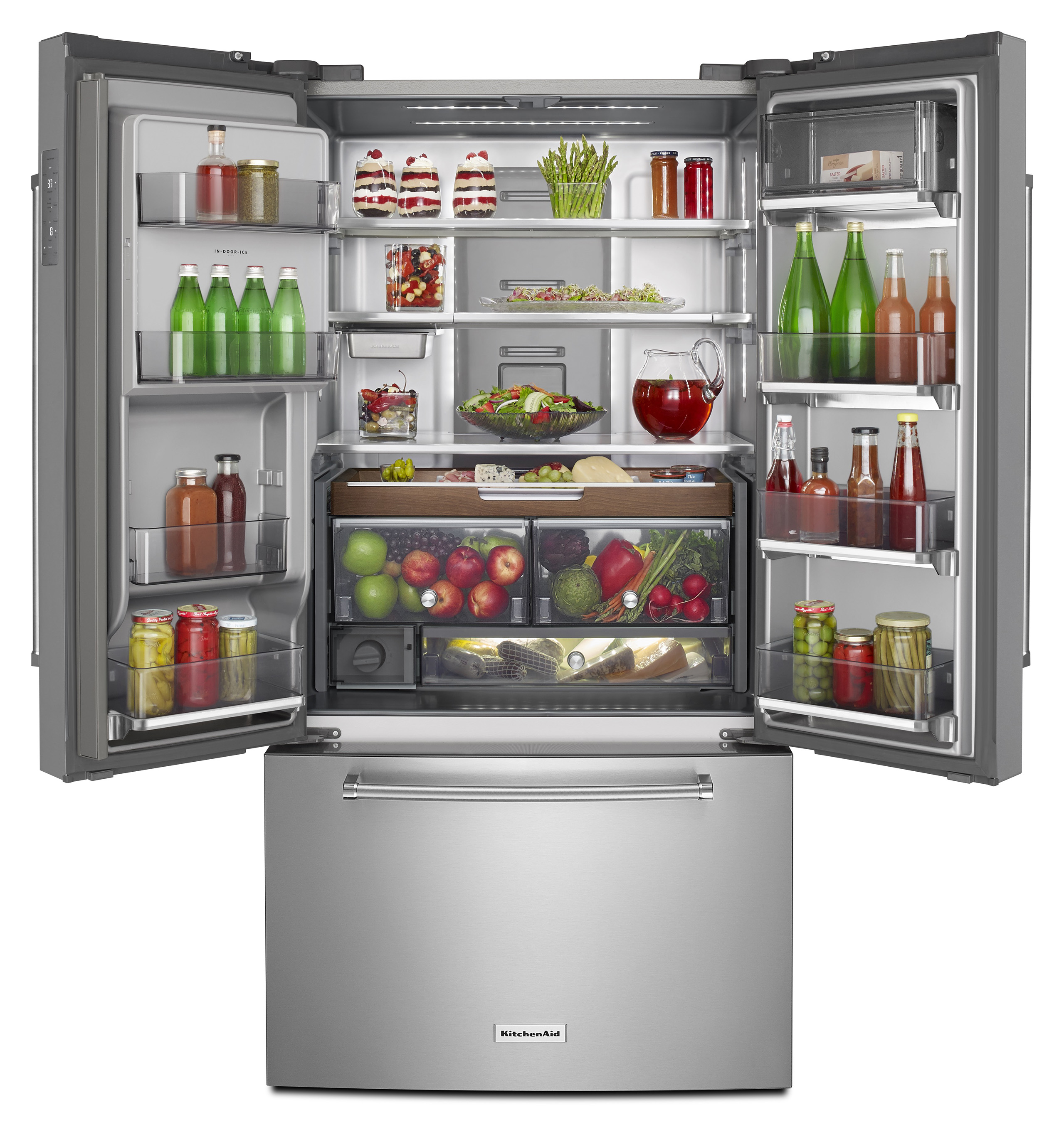Kitchenaid introduces three door free standing refrigerator rubansaba