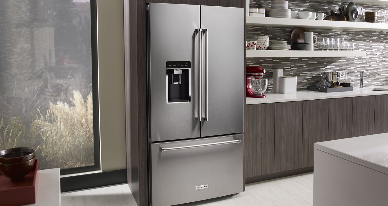 KITCHENAID INTRODUCES THREE-DOOR FREE STANDING REFRIGERATOR