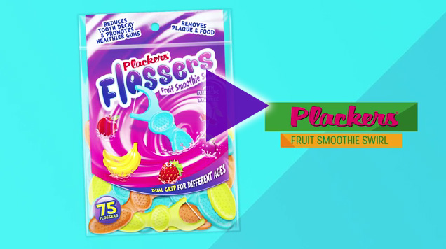 Plackers new dual grip flossers were designed with parents and kids in mind, offering a fun and easy way for kids to learn about flossing and healthy dental care habits.