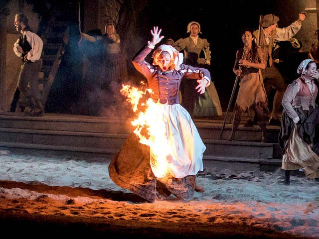 Advanced pyrotechnics make The Lost Colony an experience that feels cinematic.
