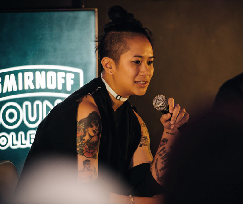 DISCWOMAN co-founder Christine Tran speaks about the influence of women DJs on electronic music culture during a panel supporting the launch of the Smirnoff Sound Collective's documentary Tribes: DISCWOMAN