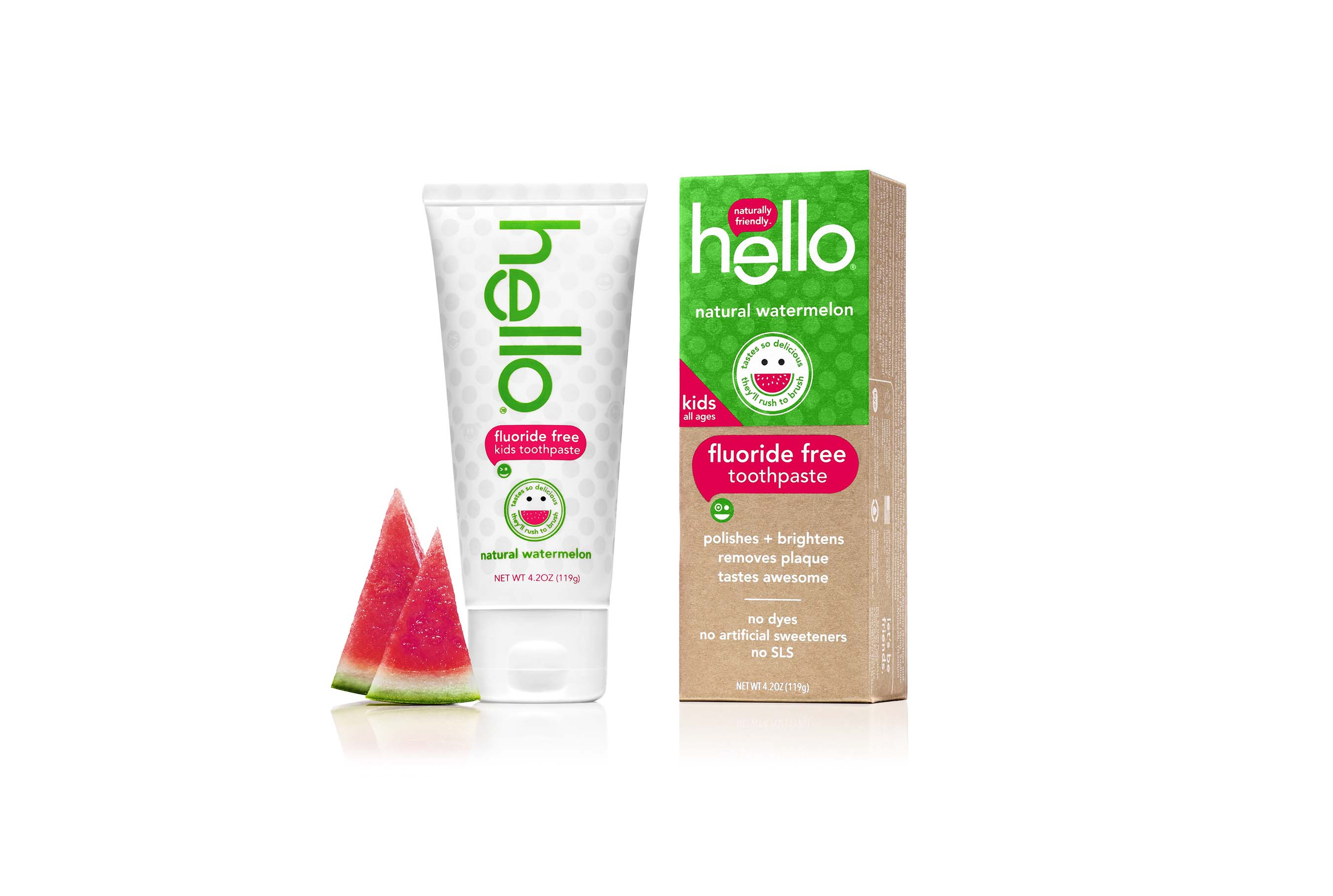hello natural watermelon toothpaste