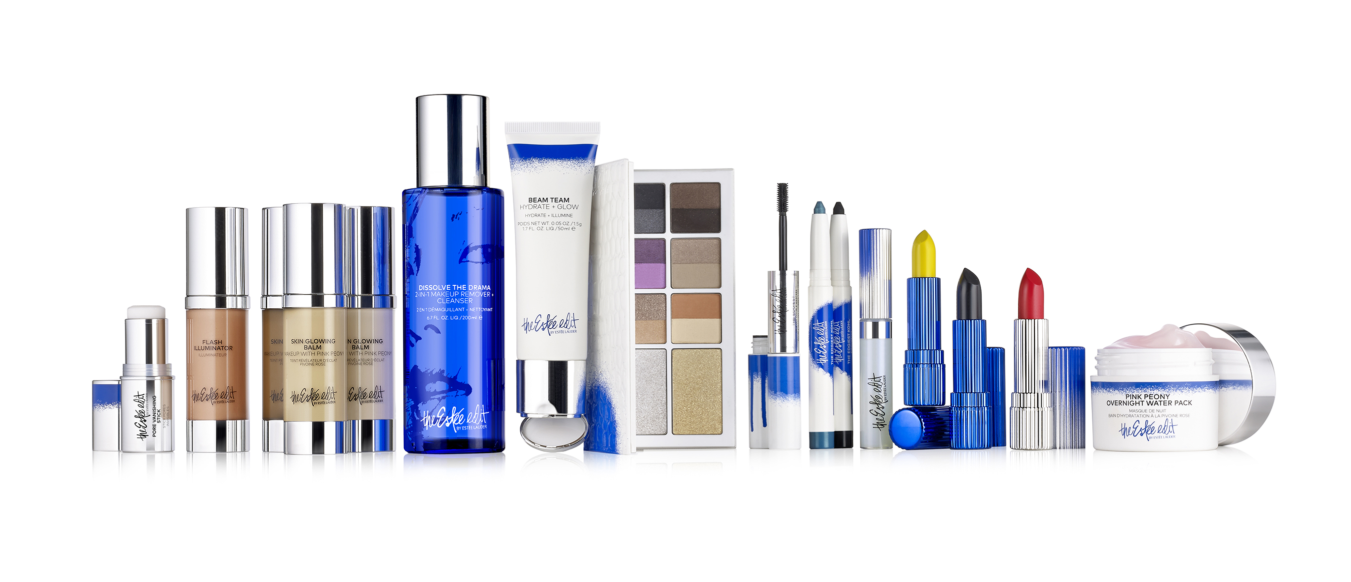 A sampling of the 82 Estée Edit products – 72 makeup, 10 skincare launching at Sephora US and Canada