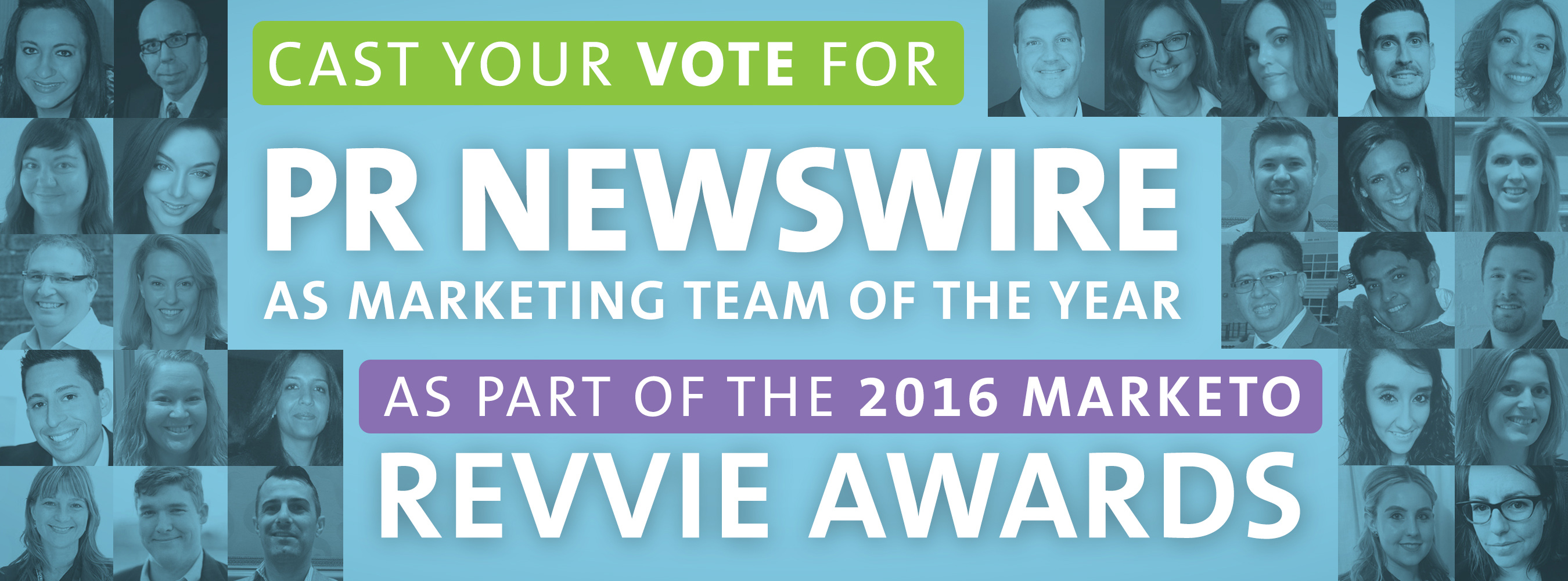 Vote for PR Newswire to win 2016 Marketo Revvie for Marketing Team of the Year, Enterprise.