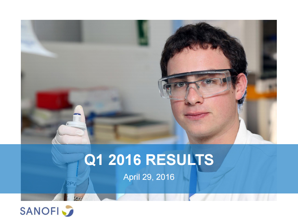 Sanofi Q1 2016 Earnings Results Presentation