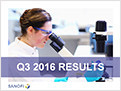 Sanofi Q3 2016 Earnings Results Presentation