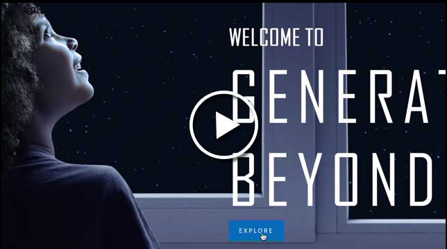 Generation Beyond website provides interactive STEM content for students to hone their space skills, plus a dynamic journey through past, present and future deep space travel.