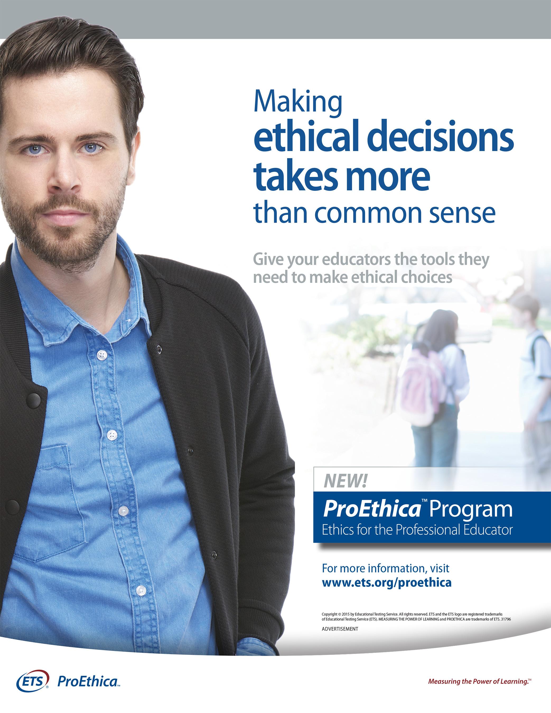 New Program Informs Teachers' Ethical Decision Making