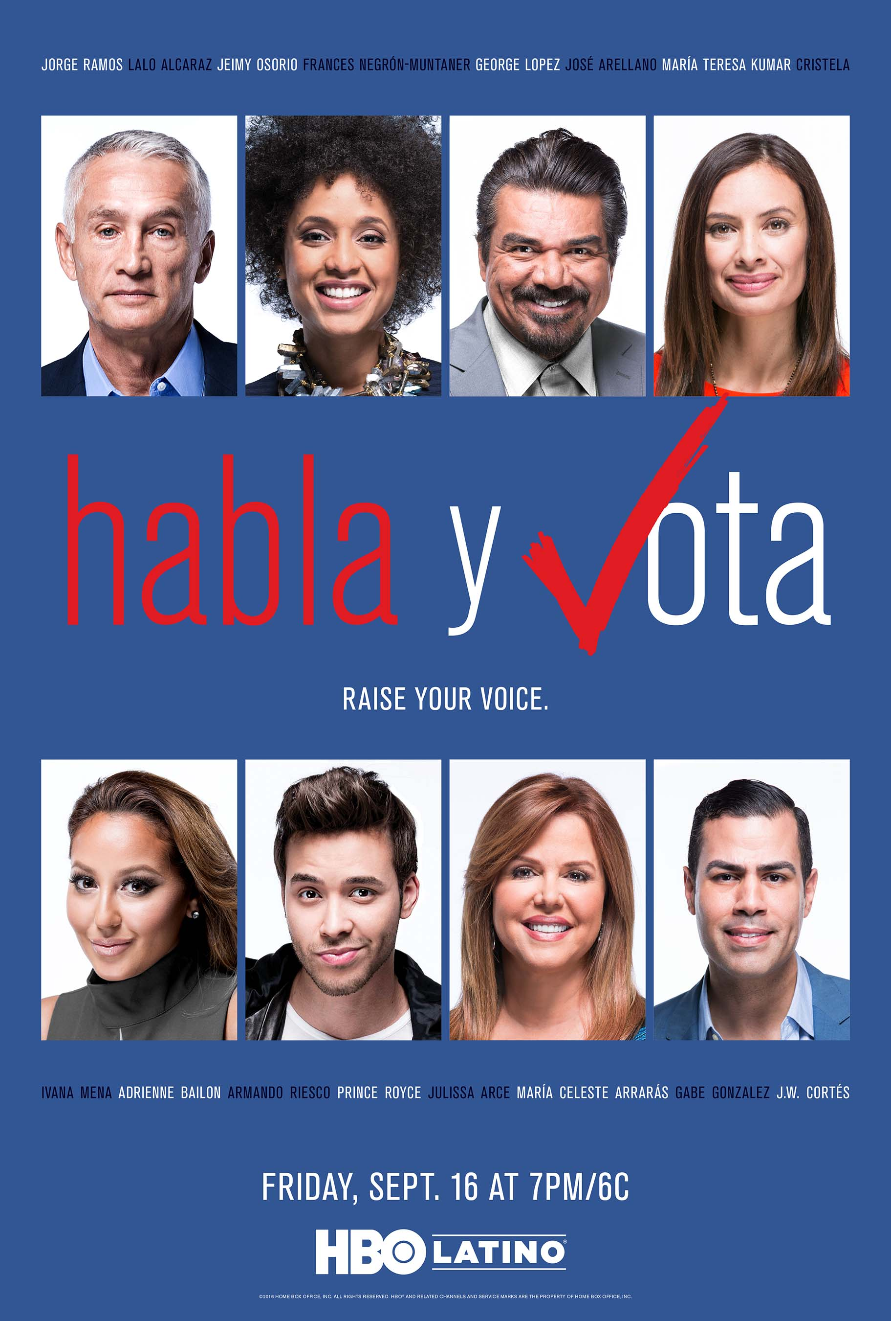HBO Latino To Premiere Star-Studded 'Habla y Vota' Special On September 16th