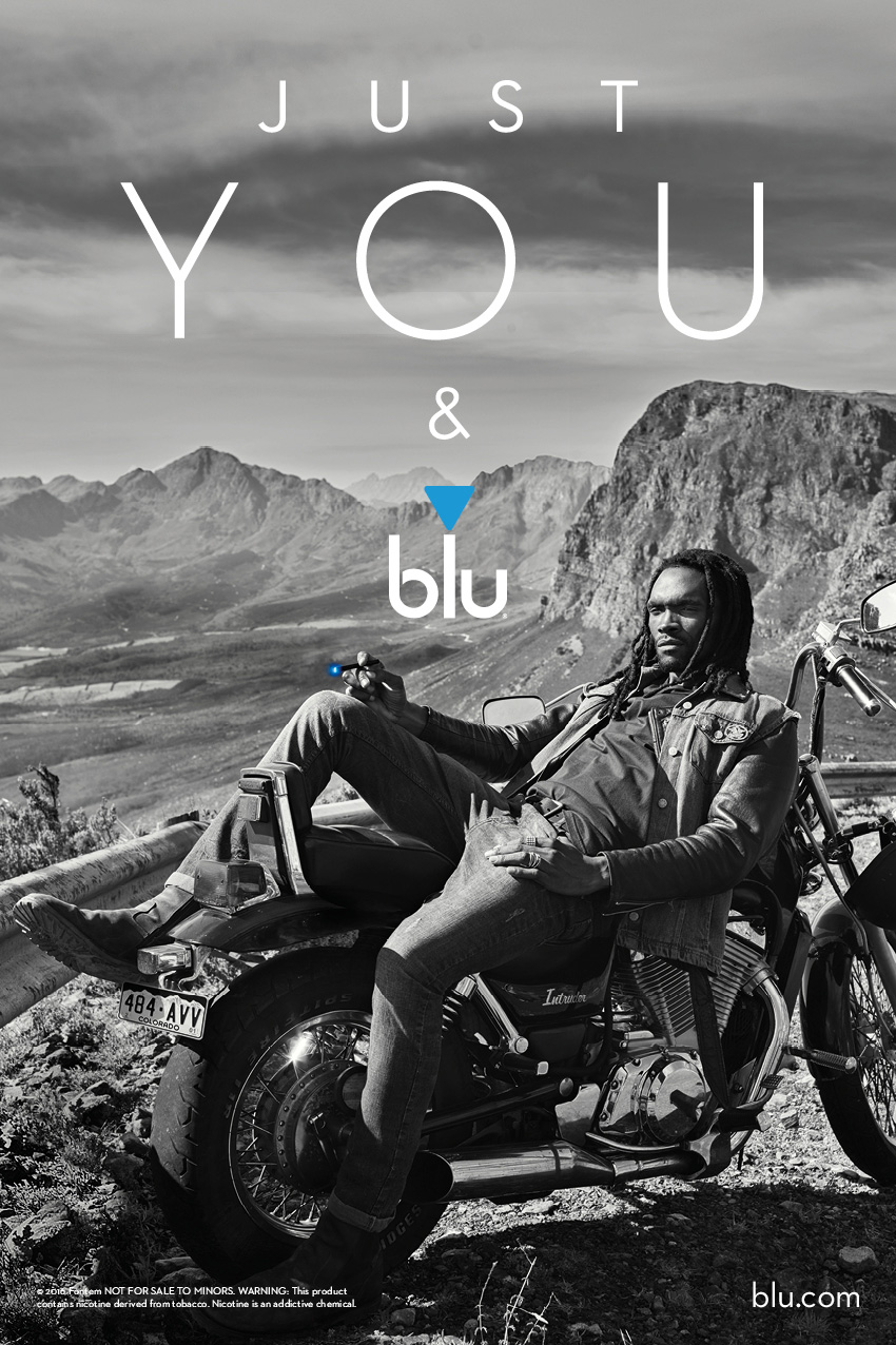 """Just You & blu/ A modern day character who's not your typical """"hell's angel""""."""