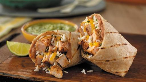 Grilled Pork Burritos with Salsa Verde