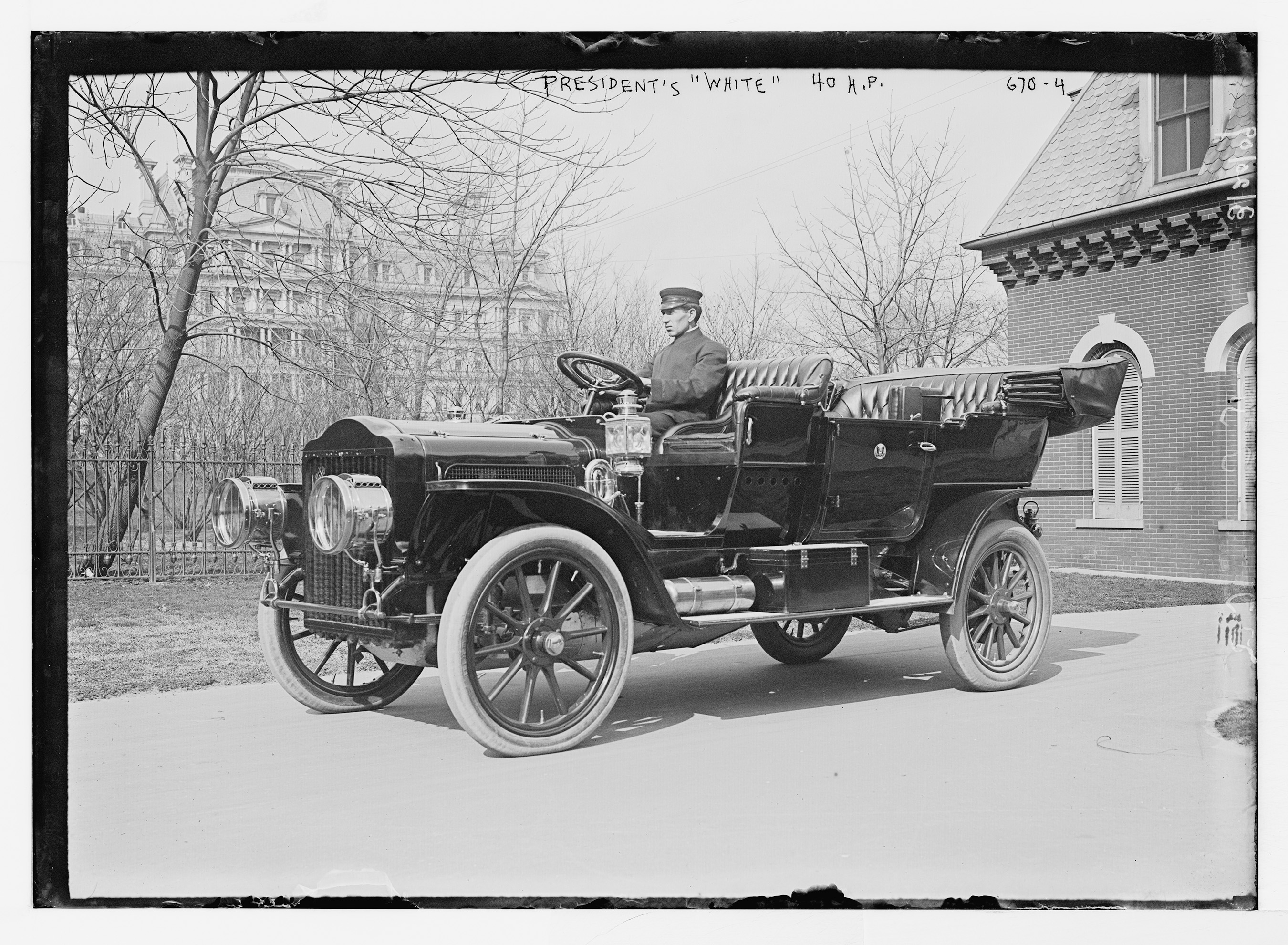 George H. Robinson, President Taft's Chauffeur and the first presidential chauffeur in American history, helped acquire the White House fleet and regularly drove the White Steam Car during Taft's presidency. (Photo courtesy of the Historic Vehicle Association/Library of Congress)