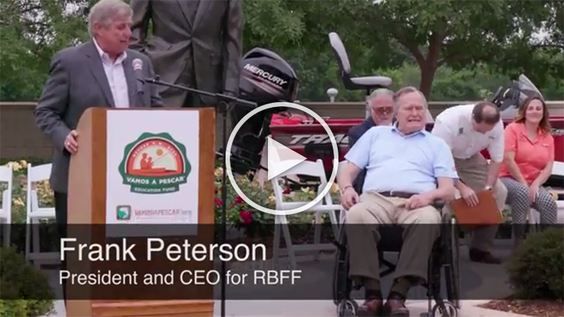Broll footage and soundbites from a Recreational Boating & Fishing Foundation (RBFF) event at the George Bush Presidential Library on Thursday, April 14, 2016, in College Station, Texas. RBFF is a nonprofit organization whose mission is to increase participation in recreational angling and boating, thereby protecting and restoring the nation's aquatic natural resources.