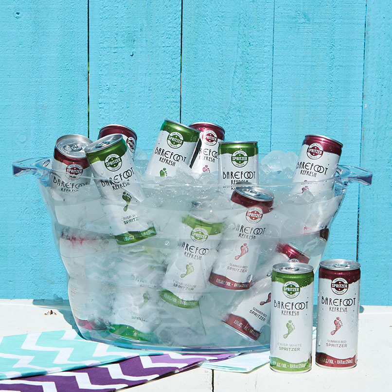 Barefoot Refresh Spritzers on Ice