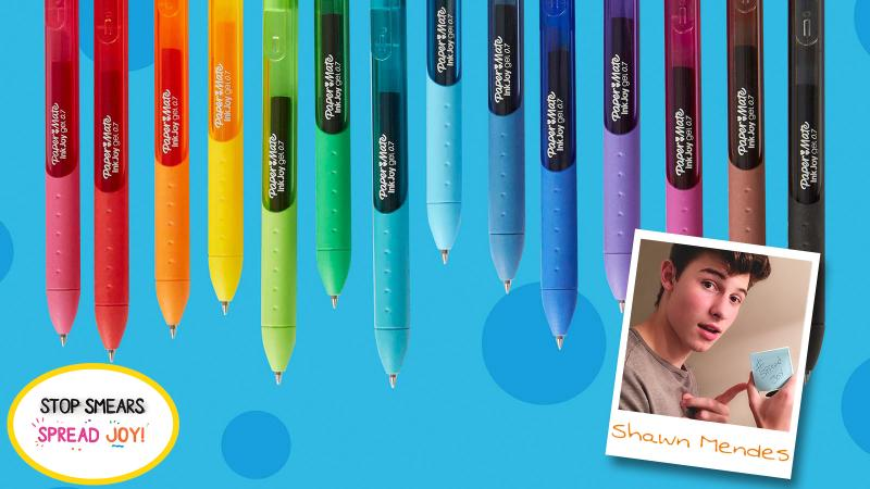 Paper Mate InkJoy Partners With Shawn Mendes On His