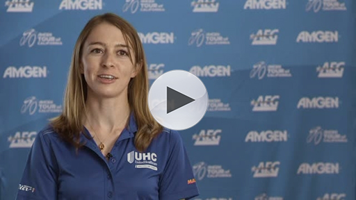 UnitedHealthcare Pro Cycling team member Katie Hall (USA) discusses what it's like to compete in the Amgen Breakaway From Heart Disease Women's Race Empowered with SRAM