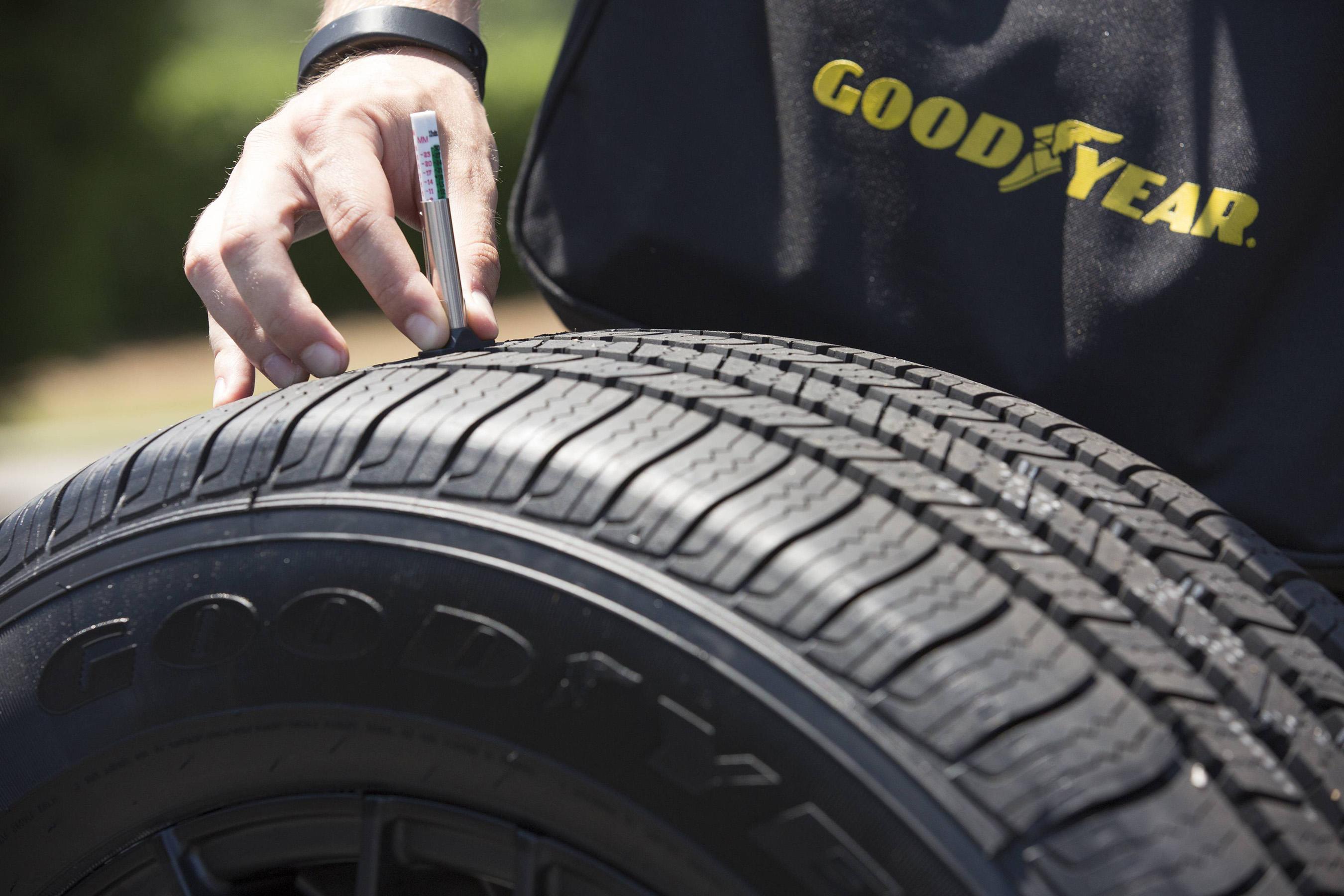 Kevin harvick at goodyear tire check