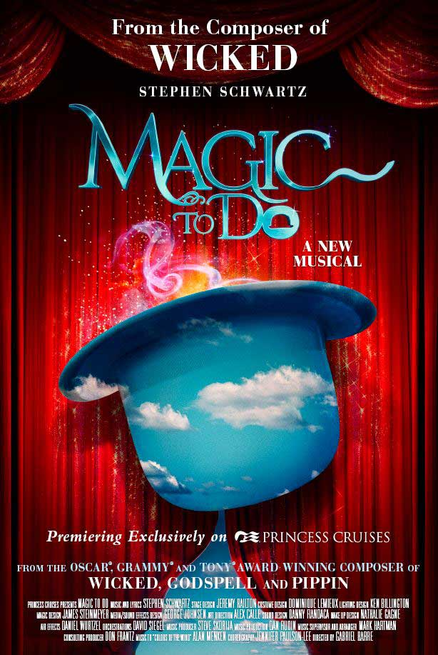 Magic to Do, Schwartz's first production for a cruise line, celebrates his lifelong fascination with magic and combines thrilling illusions with some of his most famous songs.