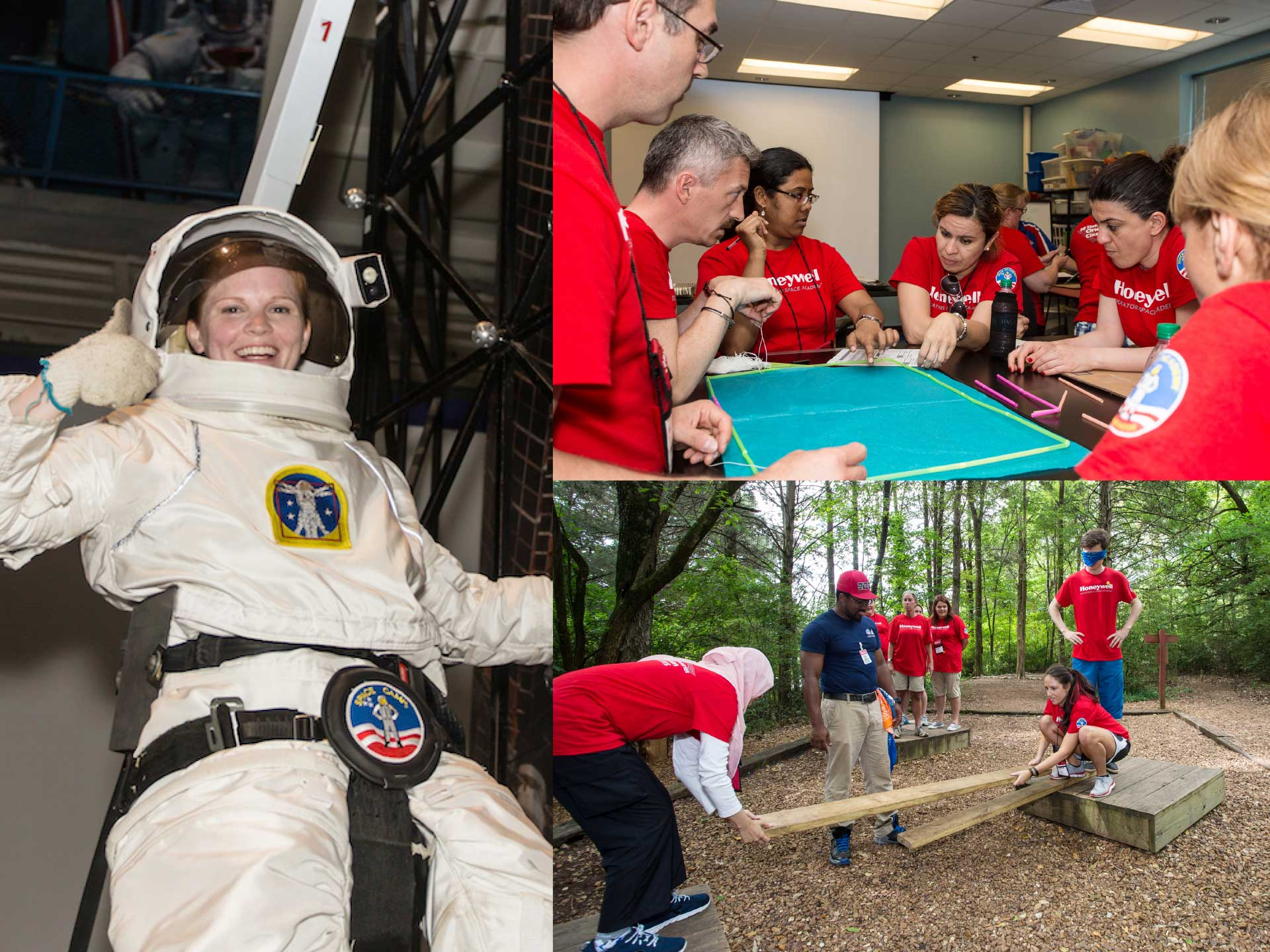 At Honeywell Educators at Space Academy, teachers are fully immersed in hands-on training such as astronaut simulations, launching and landing space shuttles, and survival tactics.